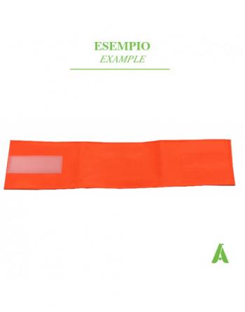 Fluoreszierendes orange Armband mit Klettverschluss verstellbar und auf Lager erhältlich