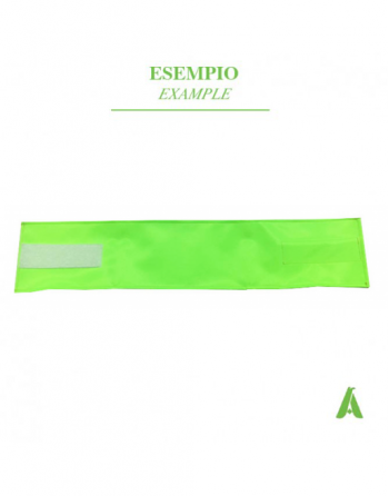 Brazalete verde fluorescente ajustable con velcro para uniformes de seguridad,  hospitales, enfermeras, policía