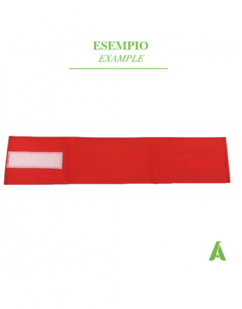 Red armband with adjustable velcro closure for emergency, nurses, hospitals, guards, police..