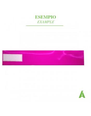Brazalete fucsia fluorescente ajustable con velcro para enfermeras, hospitales, policías, voluntarios