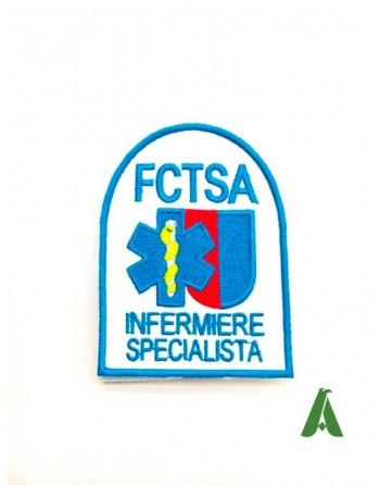 Toppe/patch con velcro, da cucire o termoapplicare su divise per operatori sanitari, infermieri, medici.