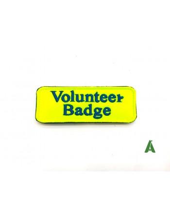 Parche amarillo fluorescente para voluntarios, ambulancias, hospitales y asociaciones