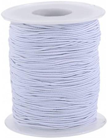 Weißes Gummiband für Masken, dicke 2,5 - 3,0 mm