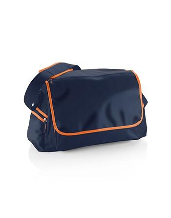 Borsa cm 47 x 33 x 23 Art. M13219 Diva colore navy e arancio per corse