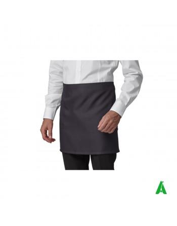 Grembiule grigio corto unisex antimacchia, personalizzabile con ricamo fino a 9 colori.