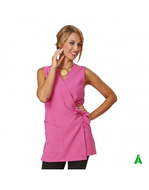 Scamiciato per beauty & wellness rosa, personalizzabile con ricamo fino a 9 colori.