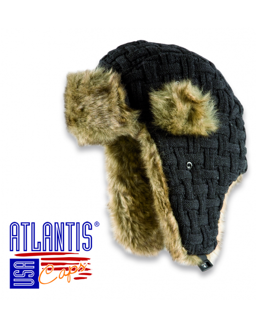 Aviator hat with synthetic fur for sale.