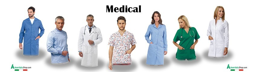 Custom healthcare uniforms with accessories by | Arem Italia
