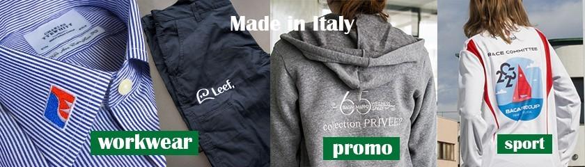 Vêtements fabriqués en Italie pour hommes et femmes.