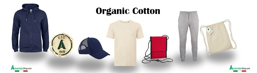 Clothing and accessories with organic cotton fabric | Arem Italia