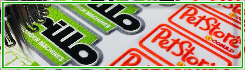 Écussons brodés ou tissés personnalisés avec thermocollant, à coudre ou avec velcro