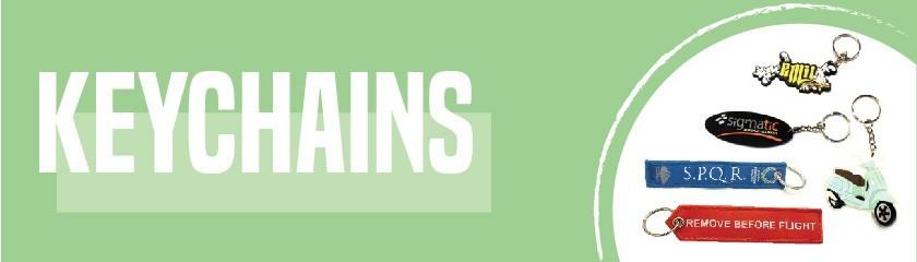 Portachiavi ricamati RemoveBeforeFlight personalizzati da |Arem Italia