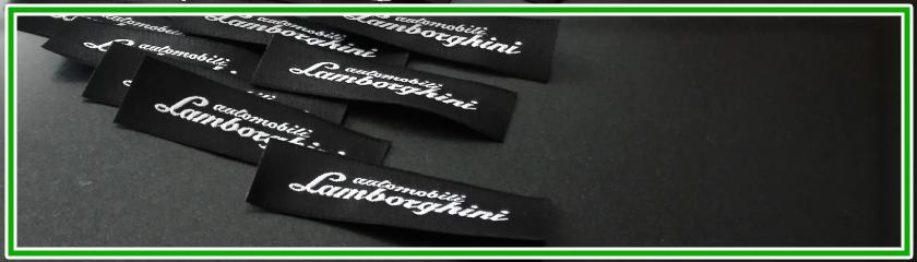 Etiquetas tejidas personalizables con tu logo o brand de  Arem Italia