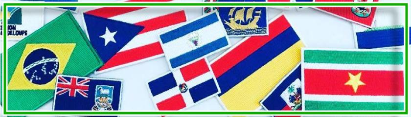 Parches Banderas de varias naciones para aplicar sobre prendas de|Arem