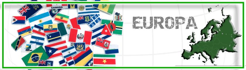 Nationalflaggen der Länder Europas mit Thermokleber von |Arem Italia
