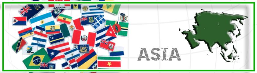 Nationalflaggen Asien mit Thermokleber von |Arem Italia