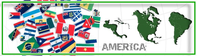 Écussons avec drapeaux de l'Amérique thermocollant par  Arem Italia
