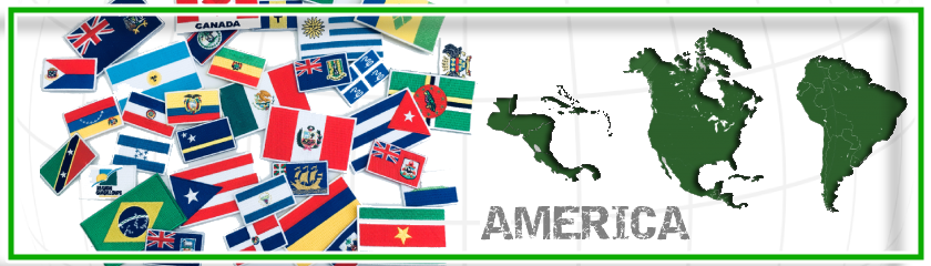 Iron-on embroidered patches with american flags by |Arem Italia