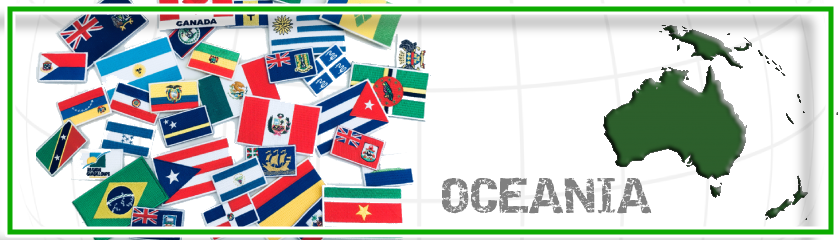 Patches of Oceania flags to customize clothing by | Arem Italia