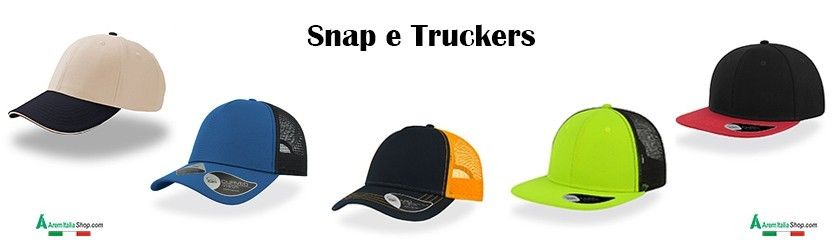 Casquettes snapback et truckers personnalisées chez |Arem italia